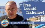 Why was Leonid Tikhonov actually convicted?